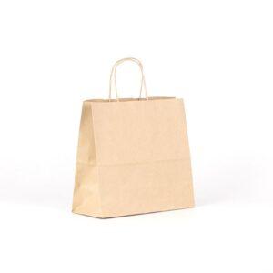 Bolsa de papel cuadrada pequeña 25x11x24 avana