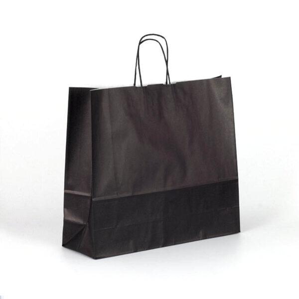 Bolsas de papel apaisada grande 42x13x37 negra