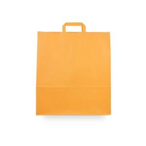 Bolsas de papel asa plana 40x15x45 naranja