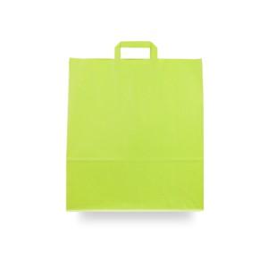 Bolsas de papel asa plana 40x15x45 verde pistacho