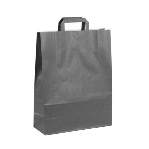 Bolsas de papel asa plana 32x12x41 negra