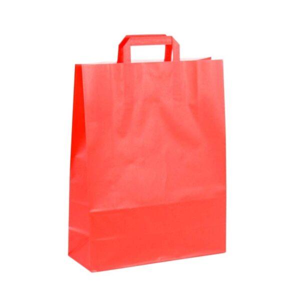 Bolsas de papel asa plana 32x12x41 roja