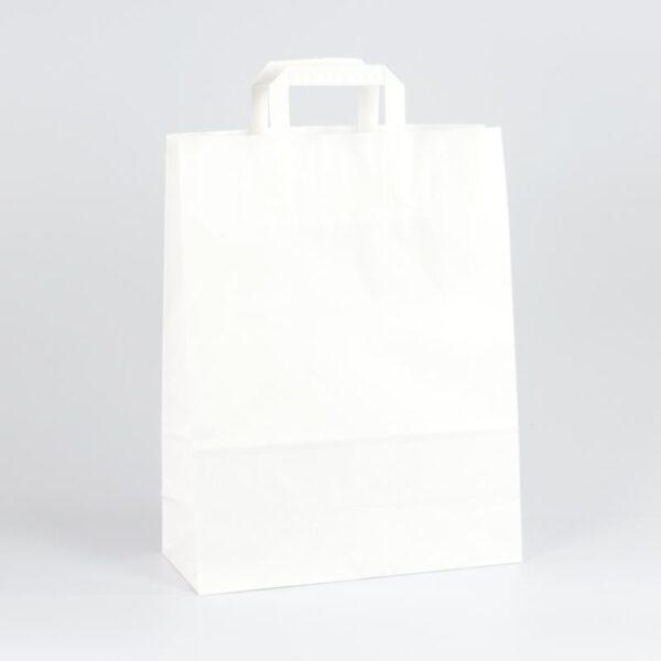 Bolsas de papel asa plana 32x12x41 blanca
