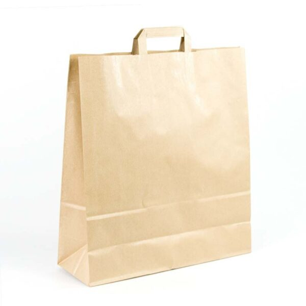 Bolsas de papel asa plana 40x15x45 kraft marrón