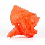 papel de seda naranja