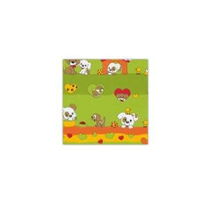 Bobina de papel de regalo infantil verde
