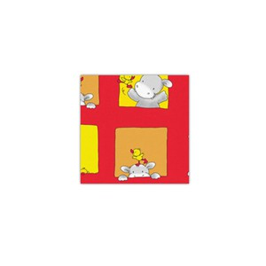 Bobina de papel de regalo infantil rojo