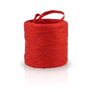 Rafia sintética color rojo