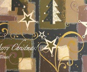 Bobina de papel de regalo de navidad verde