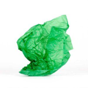 papel de seda verde