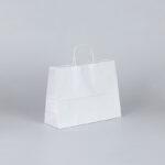 Bolsa papel apaisada blanca 28x10x22