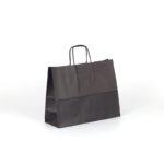 Bolsas de papel apaisadas pequeñas 28x10x22 negra