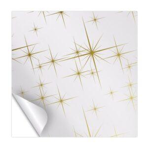 Celofán transparente con estrellas doradas
