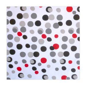 Celofán transparente con diseño punteado de colores