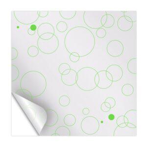 Celofán transparente con diseño de circulos verdes