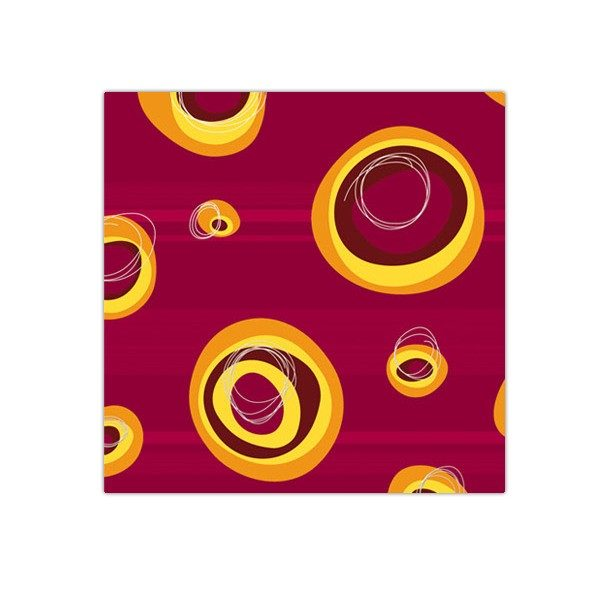 Bobina de papel de regalo barato granate con aros amarillos