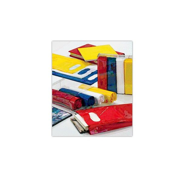 Bolsas de plástico asa troquelada 35x50+6