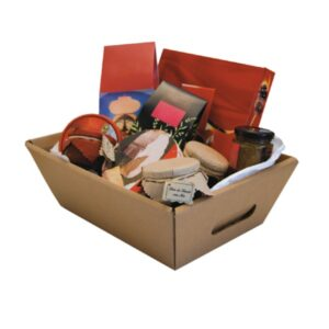 Cestas de cartón para productos gourmet 33,5x23,0x11,0