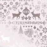 Bobina de papel de regalo de navidad metalizado gofrado con dibujos de renos y motivos navideños