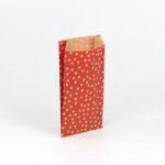 sobres papel kraft para regalo 11×21+5 lunares rojos