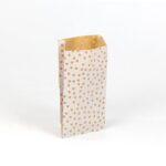 sobres papel kraft para regalo 11×21+5 lunares blancos