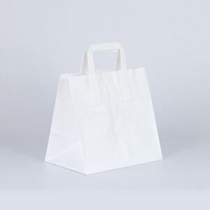 bolsa de papel take away 26x18x25 kraft blanco