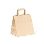 bolsa de papel take away 26x18x25 kraft marrón verjurado