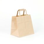 bolsa de papel kraft para llevar comida 27x17x29