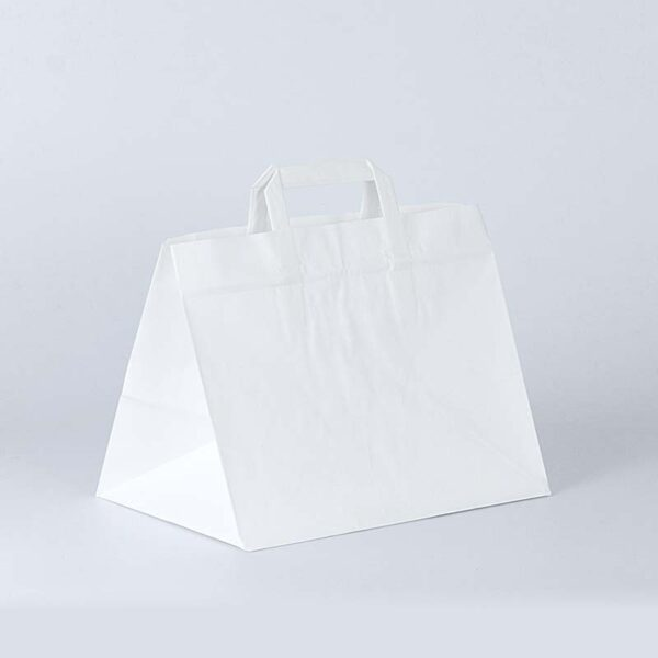 bolsa de papel take away 32x22x25 blanca
