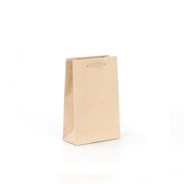 bolsas de lujo kraft pequeñas asa cordón 16x8x25