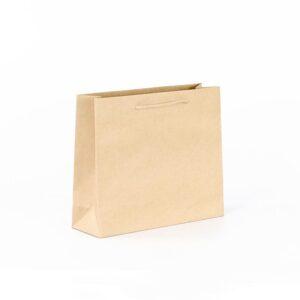 Bolsas de lujo kraft asa cordón 32x10x27 marrón verjurado