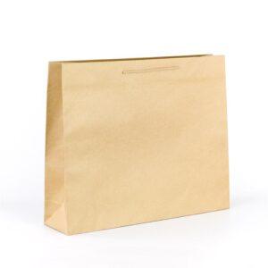 Bolsas de lujo kraft grandes 54x14x45 kraft marrón verjurado asa cordón