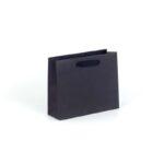 Bolsas de lujo apaisadas pequeñas 24x8x20 negra asa cinta de algodón