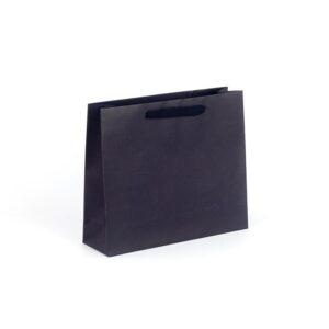 Bolsas de lujo apaisadas 32x10x27 negra asa cinta de algodón