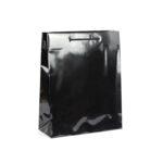 Bolsas de lujo asa cordón brillo 32x13x40 negras