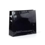 Bolsas de lujo asa cordón 42x13x37 negras brillo