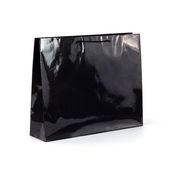 Bolsas de lujo brillo grandes 54x14x45 negras brillo