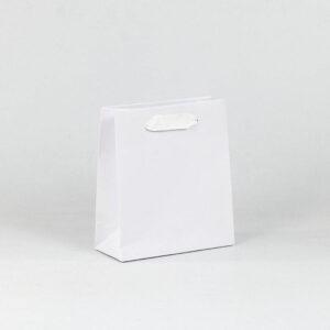 oferta bolsa de lujo asa cinta blanca 18x8x20