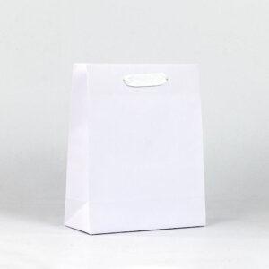 oferta bolsa de lujo asa cinta blanca 22x10x27