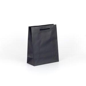 Bolsas de lujo mate asa cordón 22x10x27 negra