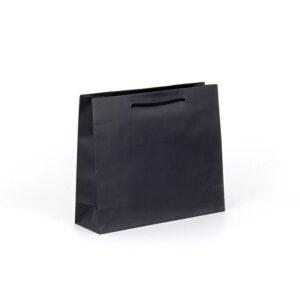bolsas de lujo mate para tiendas 32x10x27 negras