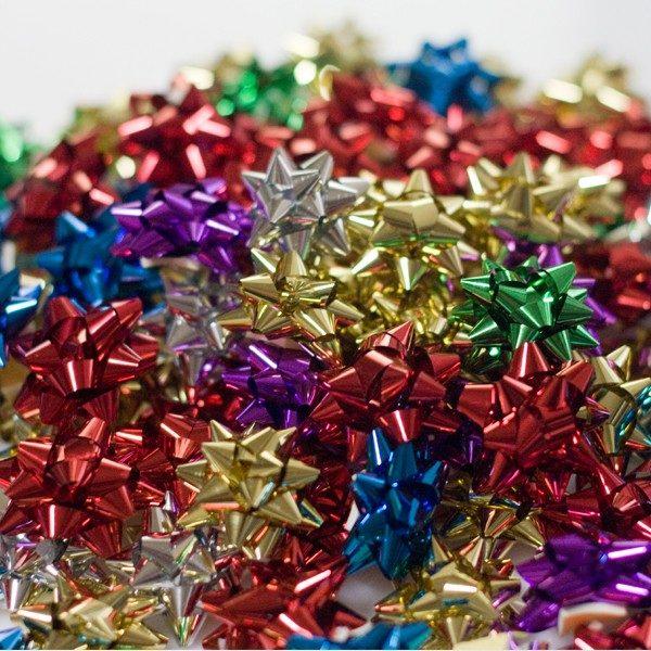 Pompones adhesivos metalizados pequeños
