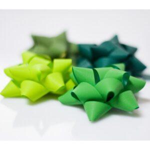 Pompones adhesivos papel sintético medianos surtidos de color verde