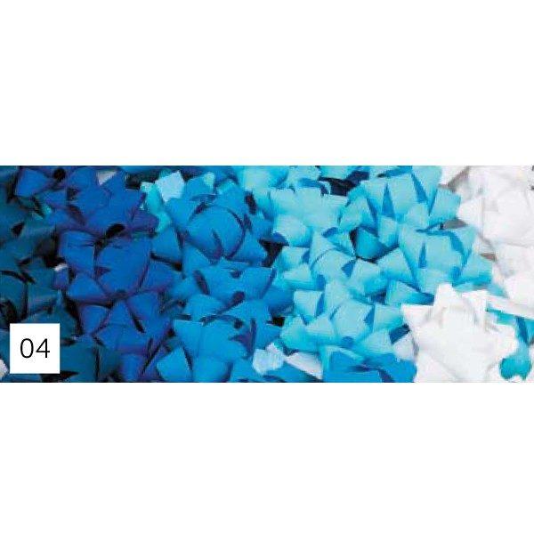 Pompones adhesivos papel sintético medianos surtidos de tonos azules