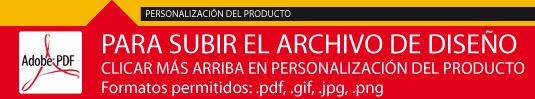 Personalización del produtco, subir archivos pdf