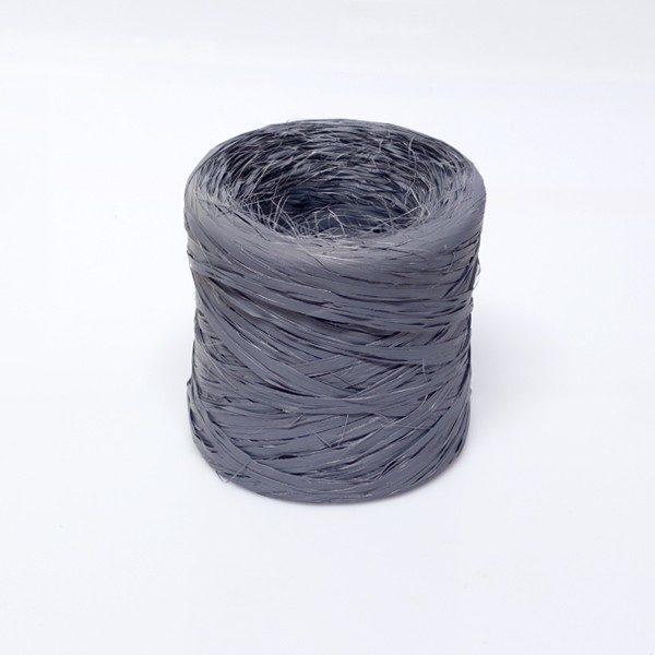 Rafia sintética color gris oscuro