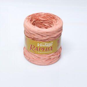 Ráfia sintética vintage color salmón