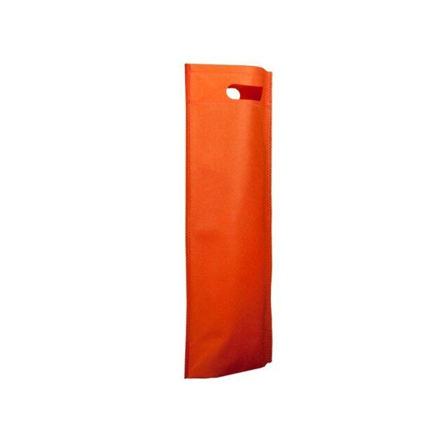 bolsa de tela para botellas - naranja
