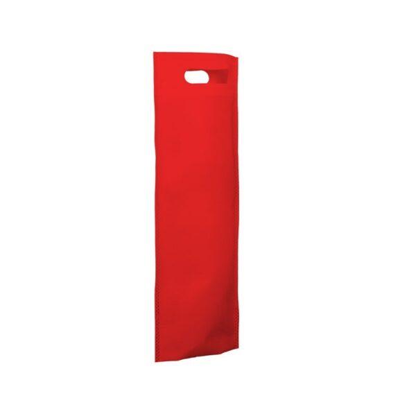 bolsa de tela para botellas - roja
