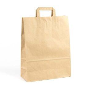 Bolsas de papel asa plana 32x13x41